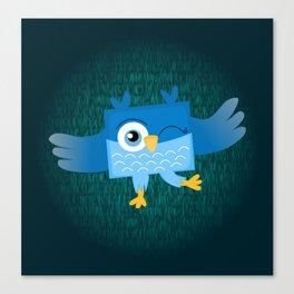 Square Owl Canvas Print