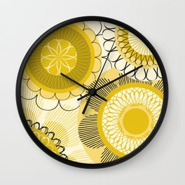 Look at the shining flowers!!! Wall Clock