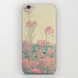 Vintage Spring Soft Pink Wildflowers iPhone Skin