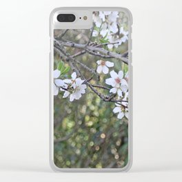 Almond tree branches and flowers Clear iPhone Case