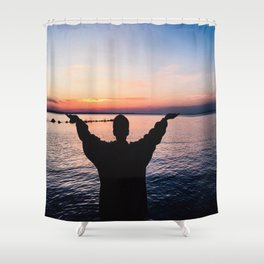 at my fingertips Shower Curtain