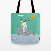 sailing Tote Bags featuring sailing by bri.buckley