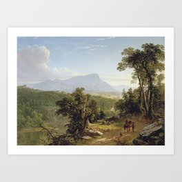 Landscape-Composition, In the Catskills by Asher Brown Durand, trees, green, man Art Print
