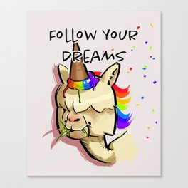 Unicone - Follow your dream Canvas Print