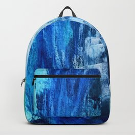 Cerulean [5]: a vibrant blue abstract with texture and layers Backpack