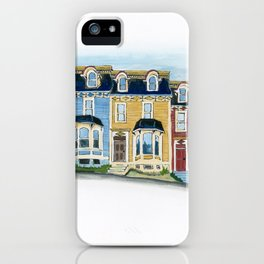 Jellybean Row - Newfoundland houses, buildings iPhone Case