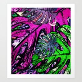Flamingo Craze Art Print