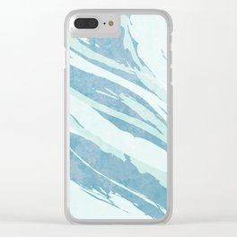 Unsettled Waves Clear iPhone Case