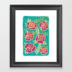 Watercolour Roses Framed Art Print