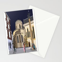 Lovers at Temple Church Stationery Cards