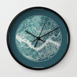 Seoul Map Planet Wall Clock