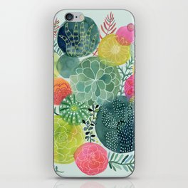 Succulent Circles iPhone Skin