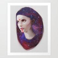 mars Art Prints featuring Mars by Liza van Rees