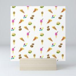Food Pattern Mini Art Print