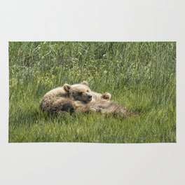 Siblings Make Good Pillows - Bear Cubs 1 Rug