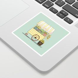 Veggie Cart on Mint Sticker