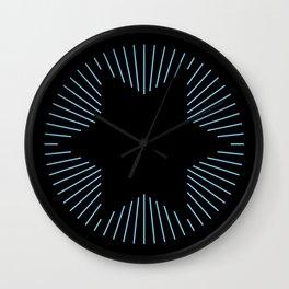 Black and Blue Striped Star Wall Clock