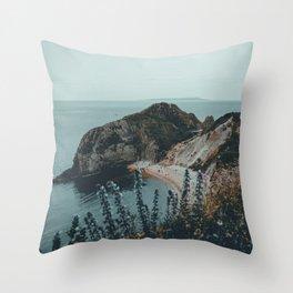 Jurassic Coast Bohemian Throw Pillow