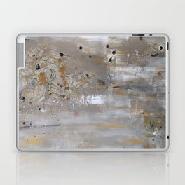 Silver and Gold Abstract Laptop & iPad Skin