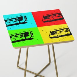 Cassettes Square Side Table