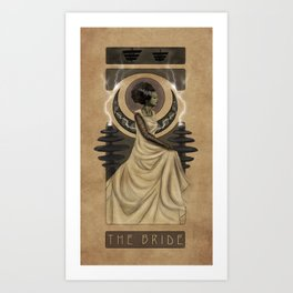 Bride of Frankenstein Nouveau Art Print