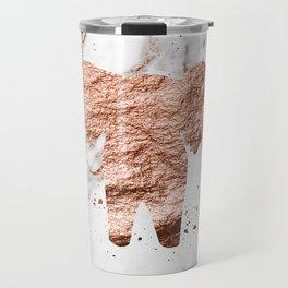 Elephant - rose gold marble Travel Mug