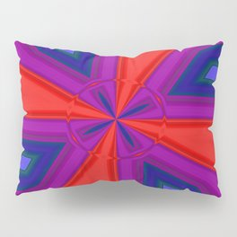 Red, Purple and Gold Quadrant Pillow Sham
