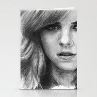 emma watson Stationery Cards featuring Emma Watson by xDontStopMeNow