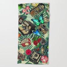 tropical vintage Beach Towel