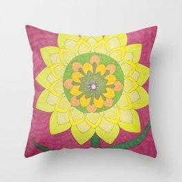 Flower of My Sun Throw Pillow