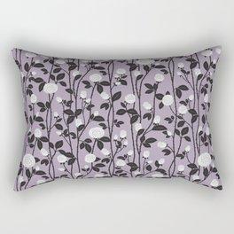 Lavender Rose Pattern Rectangular Pillow