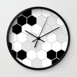 Honeycomb Pattern | Black and White Design | Minimalism Wall Clock