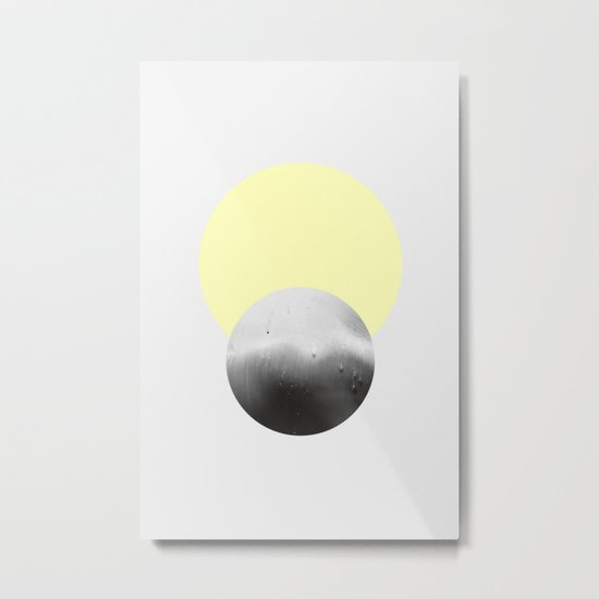 SUN + MOON Metal Print