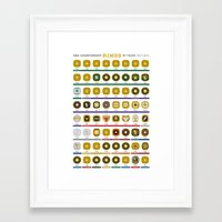 nba Framed Art Prints featuring NBA Championship Rings by Hoop Dream Ink