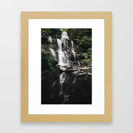 Ganoga Falls Reflection Framed Art Print