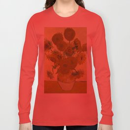 Sunflowers by Vincent van Gogh Long Sleeve T-shirt