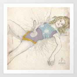 Barbarella, Corndogs in Space Art Print
