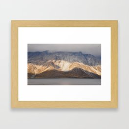 Norwegian mountain dissection Framed Art Print