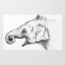 Elephant baby - sketch Rug