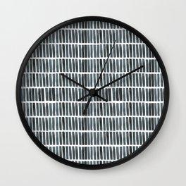 'indigo bars' - pattern Wall Clock