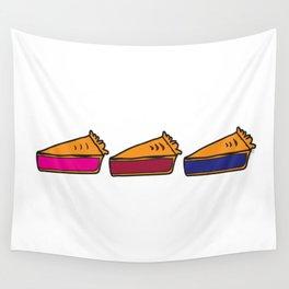 3 Pies - Original/White Wall Tapestry