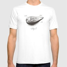 Fig 1 White Mens Fitted Tee MEDIUM