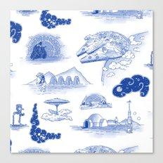 Pop Porcelain: Far Far Away Canvas Print