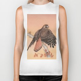Red-tailed hawk Biker Tank