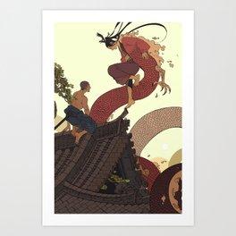 Tell a Dragon Truths Art Print