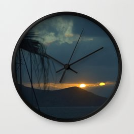 Sunset Naxos 1 Wall Clock