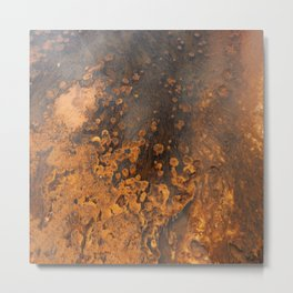 Colors And Texture Of A Hot Spring Metal Print