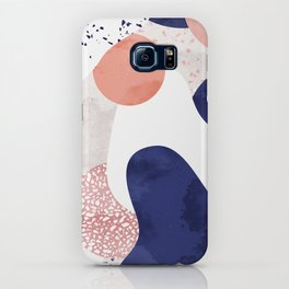 Terrazzo galaxy pink blue white iPhone Case