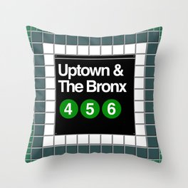subway bronx sign Throw Pillow