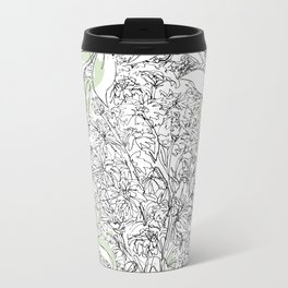 Begonias & Mums Metal Travel Mug